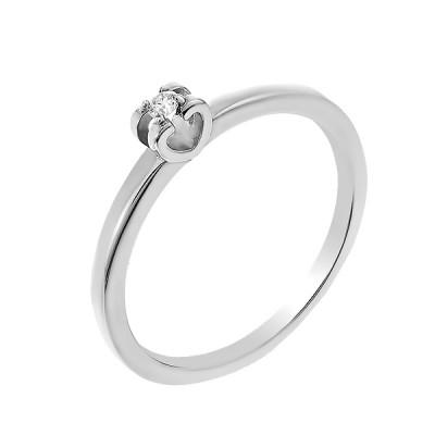 Каблучка срібна з діамантом (SK-SB-01-03)