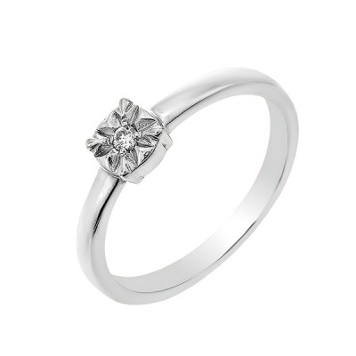 Каблучка срібна з діамантом (SK-SB-01-05)