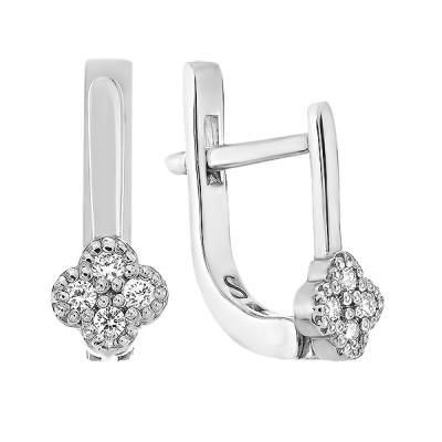 Сережки срібні з діамантами (SK-SB-02-01)