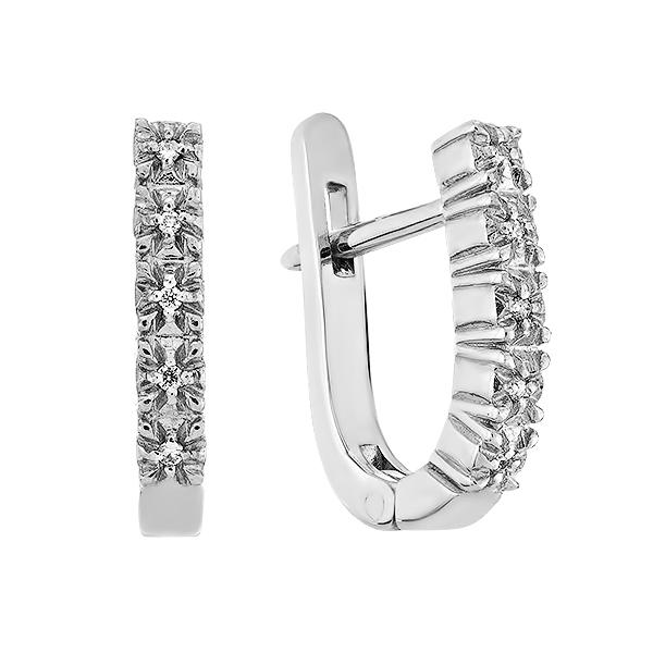 Сережки срібні з діамантами (SK-SB-02-07)