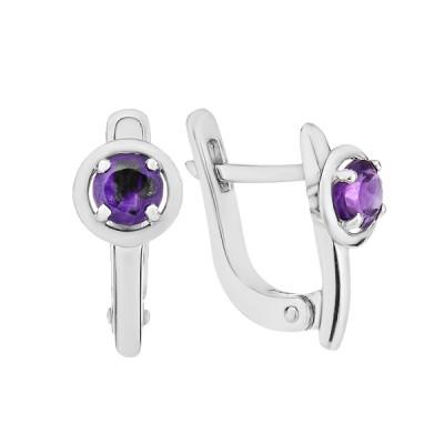 Сережки срібні з аметистом (СН1613АМ)