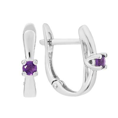 Сережки срібні з аметистом (СН1923АМ)
