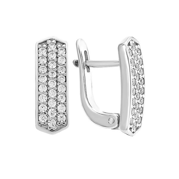 Сережки срібні доріжка з фіанітами (СВ1268)