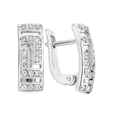 Сережки срібні фантазія з розсипом (СВ1269)
