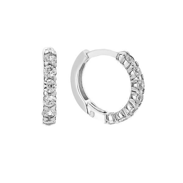Сережки-кільця (конго) срібні доріжка з фіанітами (СВ1318)