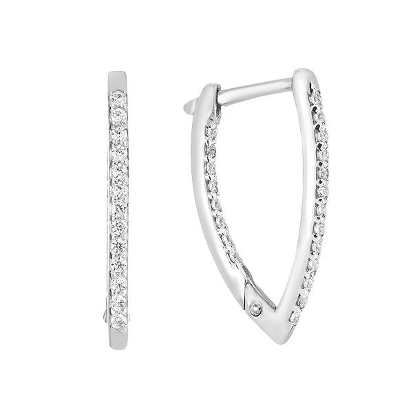 Сережки срібні доріжка з фіанітами (СВ1392.1)
