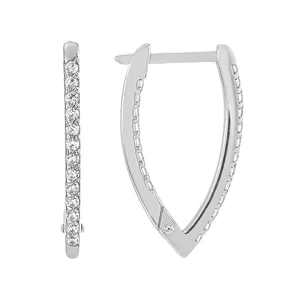 Сережки срібні доріжка з фіанітами (СВ1392.2)