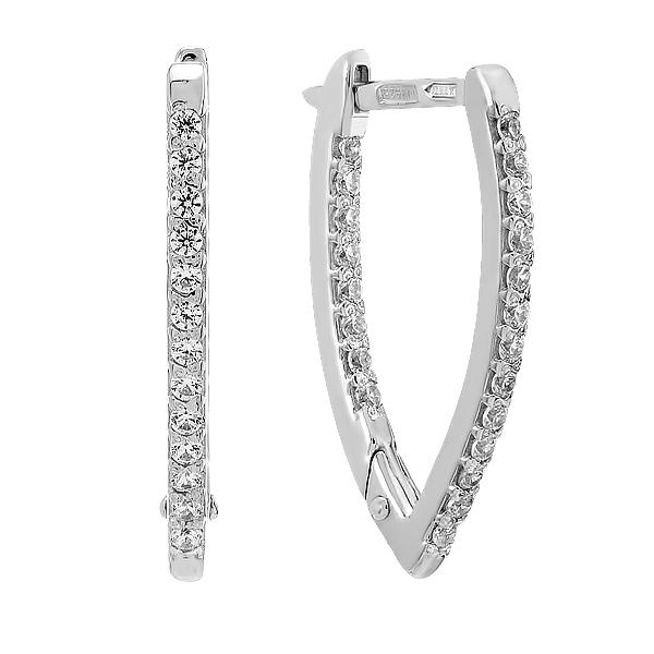 Сережки срібні доріжка з фіанітами (СВ1392)