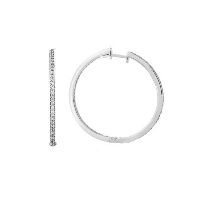 Сережки-кільця (конго) срібні доріжка з фіанітами (СВ1486)