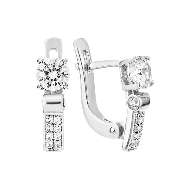 Сережки срібні з фіанітами (СВ1602.7)