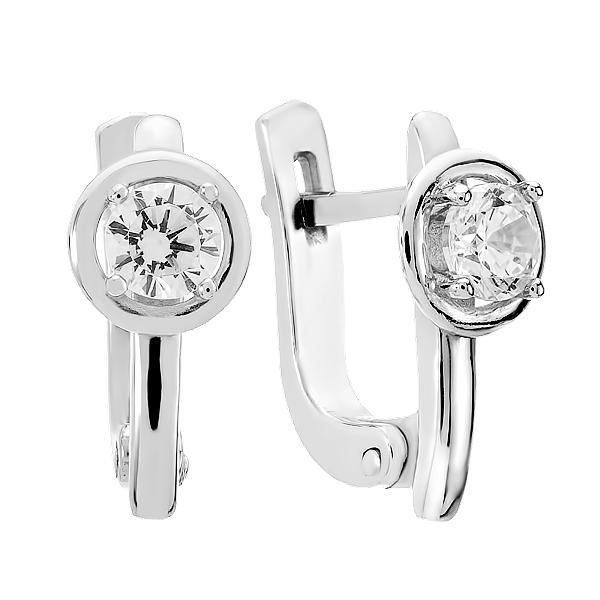 Сережки срібні з фіанітами (СВ1613)