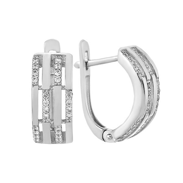 Сережки срібні з розсипом (СВ1711)