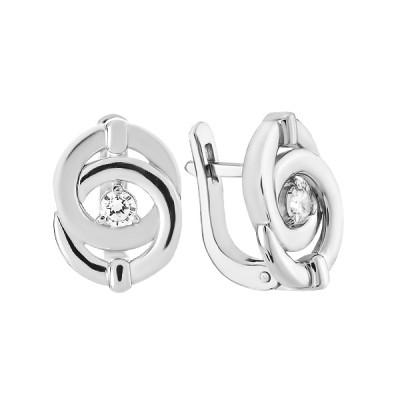 Сережки срібні з фіанітами (СВ1714)