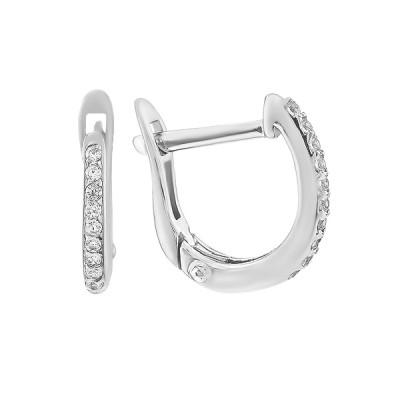 Сережки срібні доріжка з фіанітами (СВ1728)