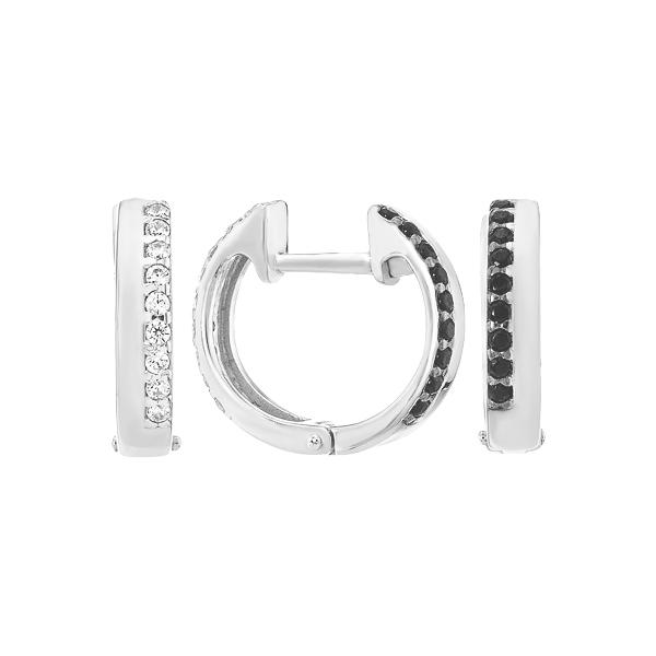 Сережки-кільця (конго) срібні доріжка з фіанітами (СВ1737.1)