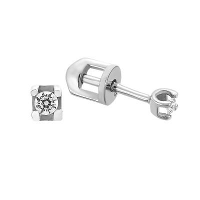 Сережки-пусети (гвоздики) срібні з фіанітами (СВ1752)