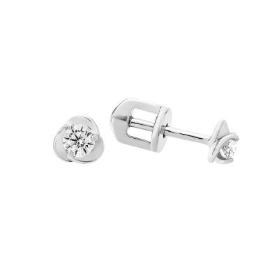 Сережки-пусети (гвоздики) срібні з фіанітами (СВ1764)
