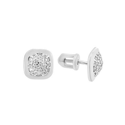 Сережки-пусети (гвоздики) срібні з розсипом (СВ1767)