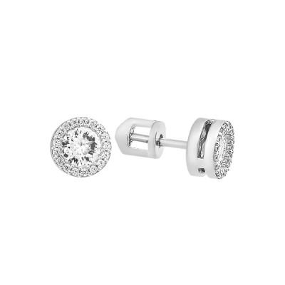 Сережки-пусети (гвоздики) срібні з розсипом (СВ1784)