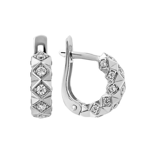 Сережки срібні фантазія з розсипом (СВ1798)