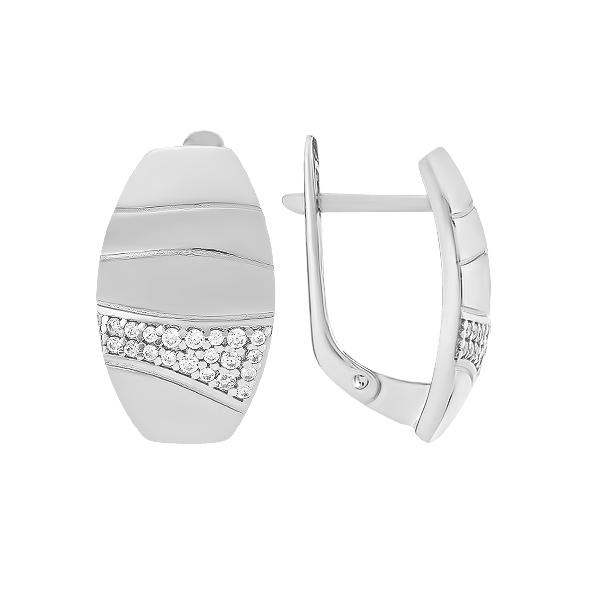 Сережки срібні фантазія з розсипом (СВ1816)