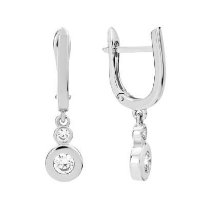 Сережки срібні фантазія з фіанітами (СВ1828)