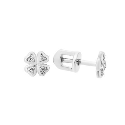 Сережки-пусети (гвоздики) срібні з розсипом (СВ1841)