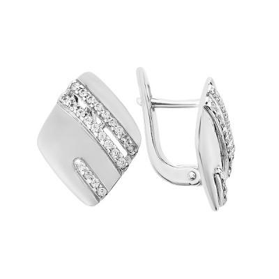 Сережки срібні фантазія з розсипом (СВ1848)