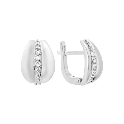 Сережки срібні фантазія з розсипом (СВ1857)