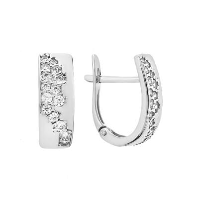 Сережки срібні фантазія з розсипом (СВ1864)