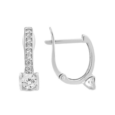 Сережки срібні з фіанітами (СВ1867)