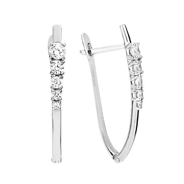 Сережки срібні доріжка з фіанітами (СВ1884)