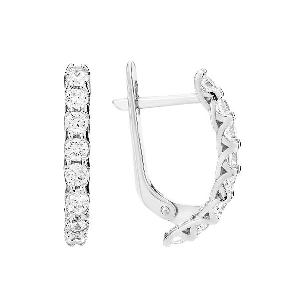 Сережки срібні доріжка з фіанітами (СВ1888)