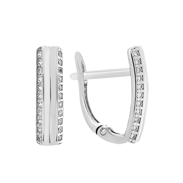 Сережки срібні доріжка з фіанітами (СВ1892)