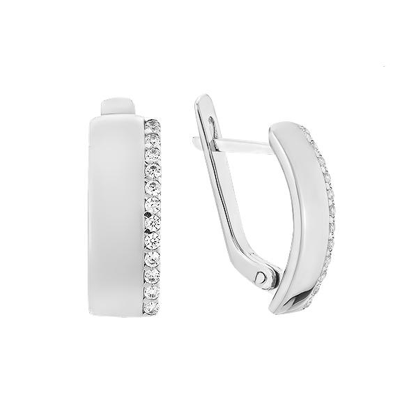 Сережки срібні доріжка з фіанітами (СВ1902)