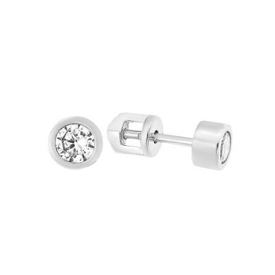 Сережки-пусети (гвоздики) срібні з фіанітами (СВ1924.3)