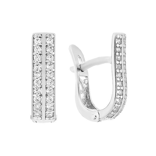Сережки срібні доріжка з фіанітами (СВ1932)