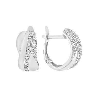 Сережки срібні фантазія з розсипом (СВ1935)