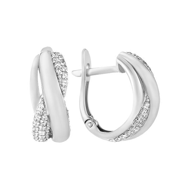 Сережки срібні фантазія з розсипом (СВ1936)