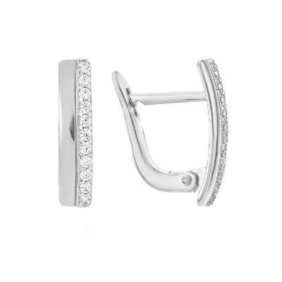 Сережки срібні доріжка з фіанітами (СВ1944)