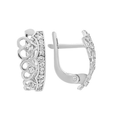 Сережки срібні фантазія з розсипом (СВ1946)