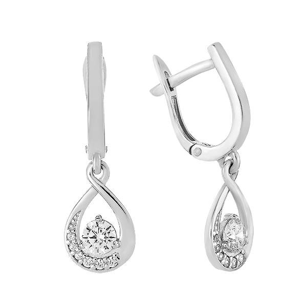 Сережки срібні фантазія з розсипом (СВ1949)