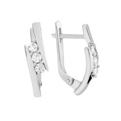 Сережки срібні фантазія з розсипом (СВ1956)