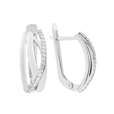 Сережки срібні фантазія з розсипом (СВ1967)
