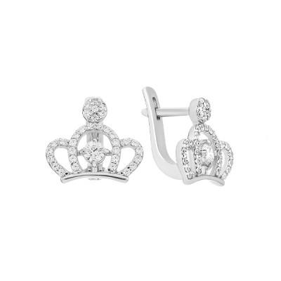 Сережки срібні Корона з розсипом (СВ1971)