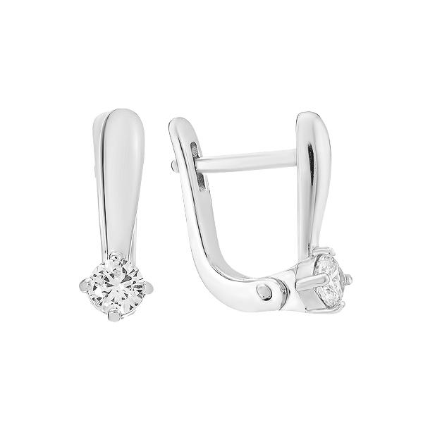 Сережки срібні з фіанітами (СВ1977)