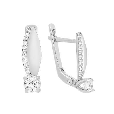 Сережки срібні з фіанітами (СВ1986)
