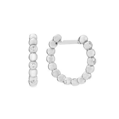 Сережки-кільця (конго) срібні з розсипом (СВ1997)