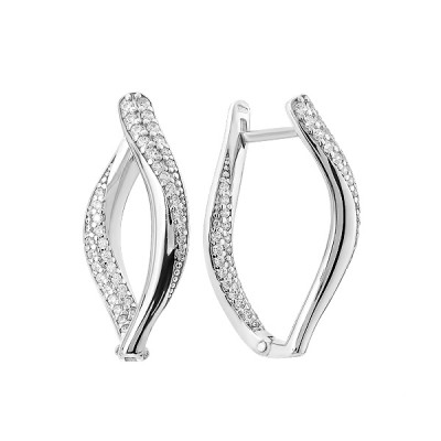 Сережки срібні фантазія з розсипом (СВ2014)