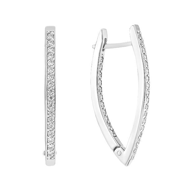 Сережки срібні доріжка з фіанітами (СВ215)